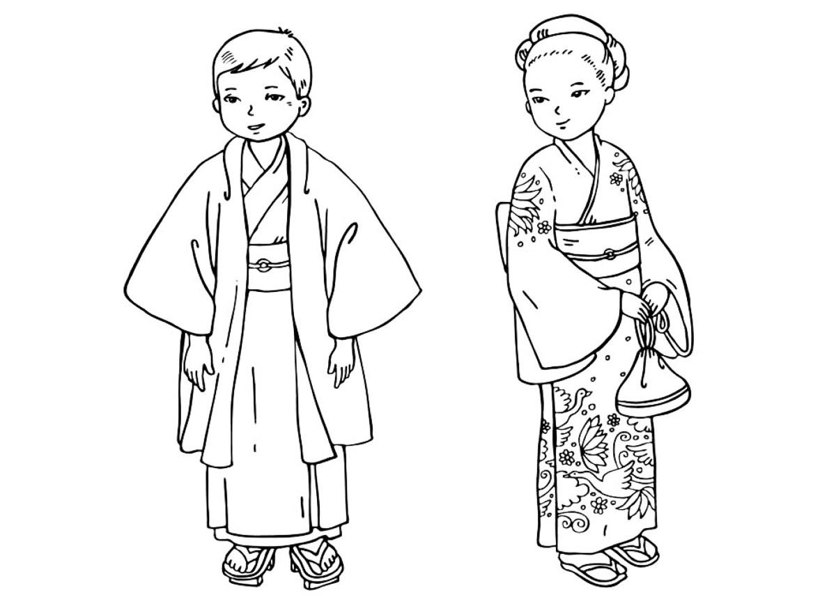malvorlagen  japanische kinder