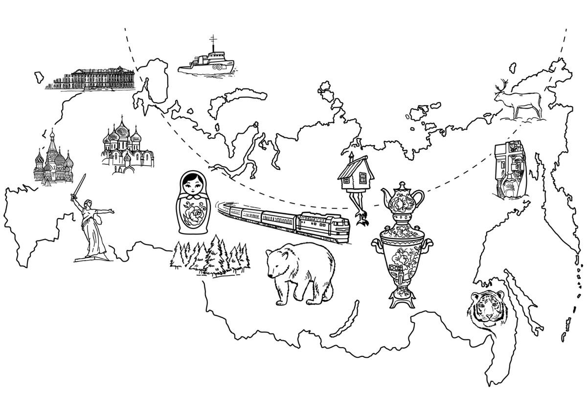 malvorlagen  karte von russland