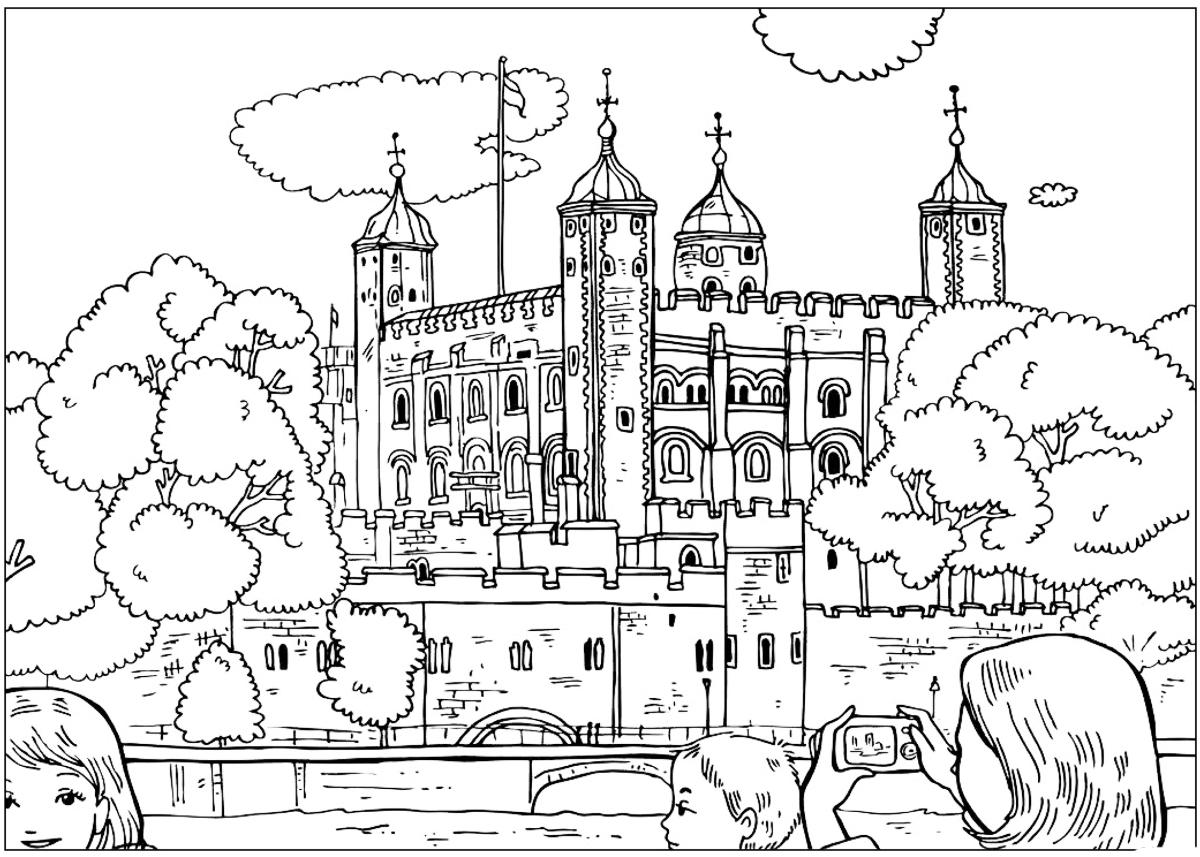 malvorlagen  tower of london
