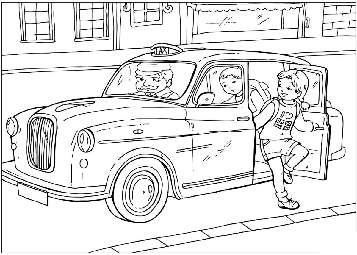 malvorlagen  britische taxi