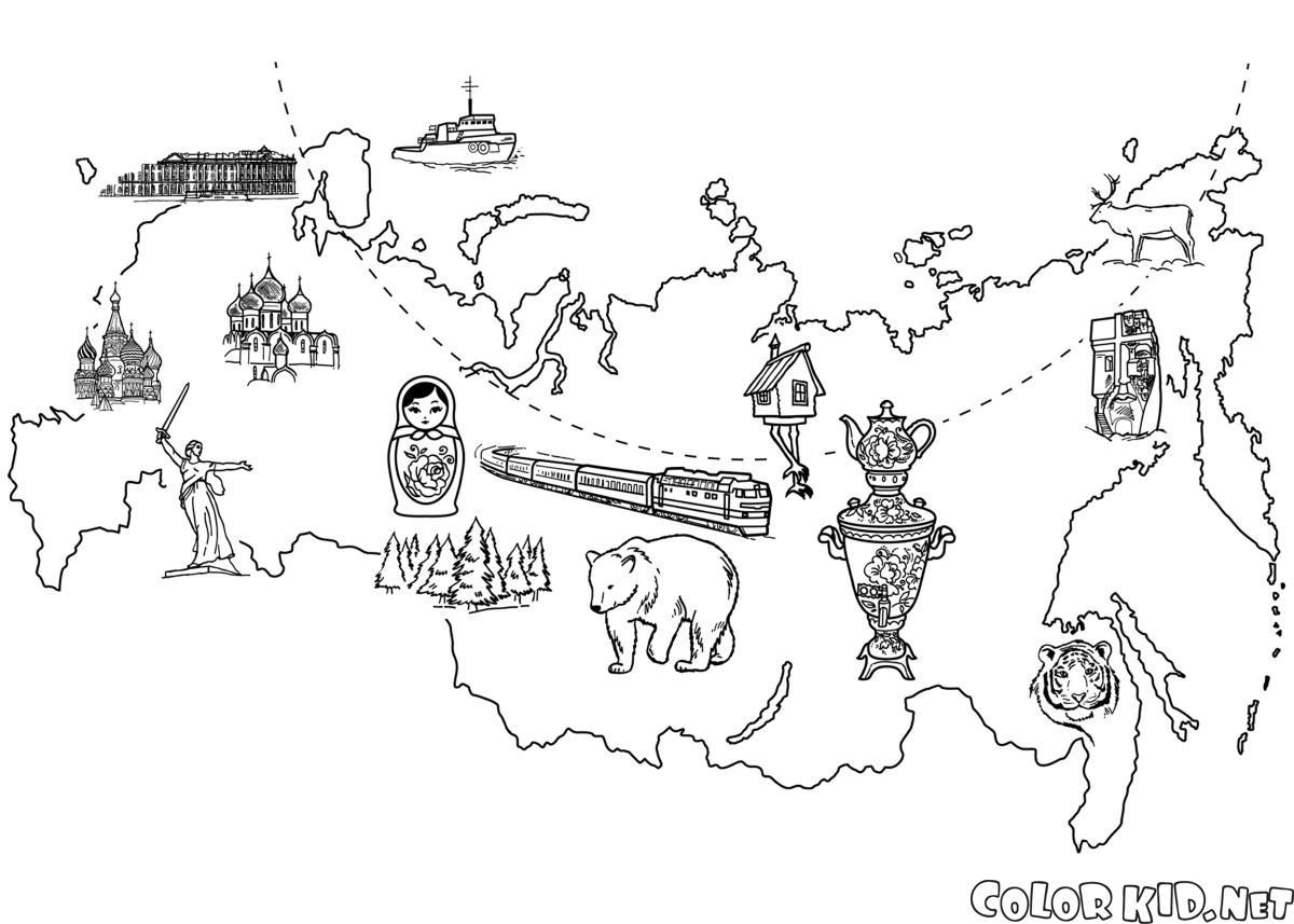 Malvorlagen Russische Foderation