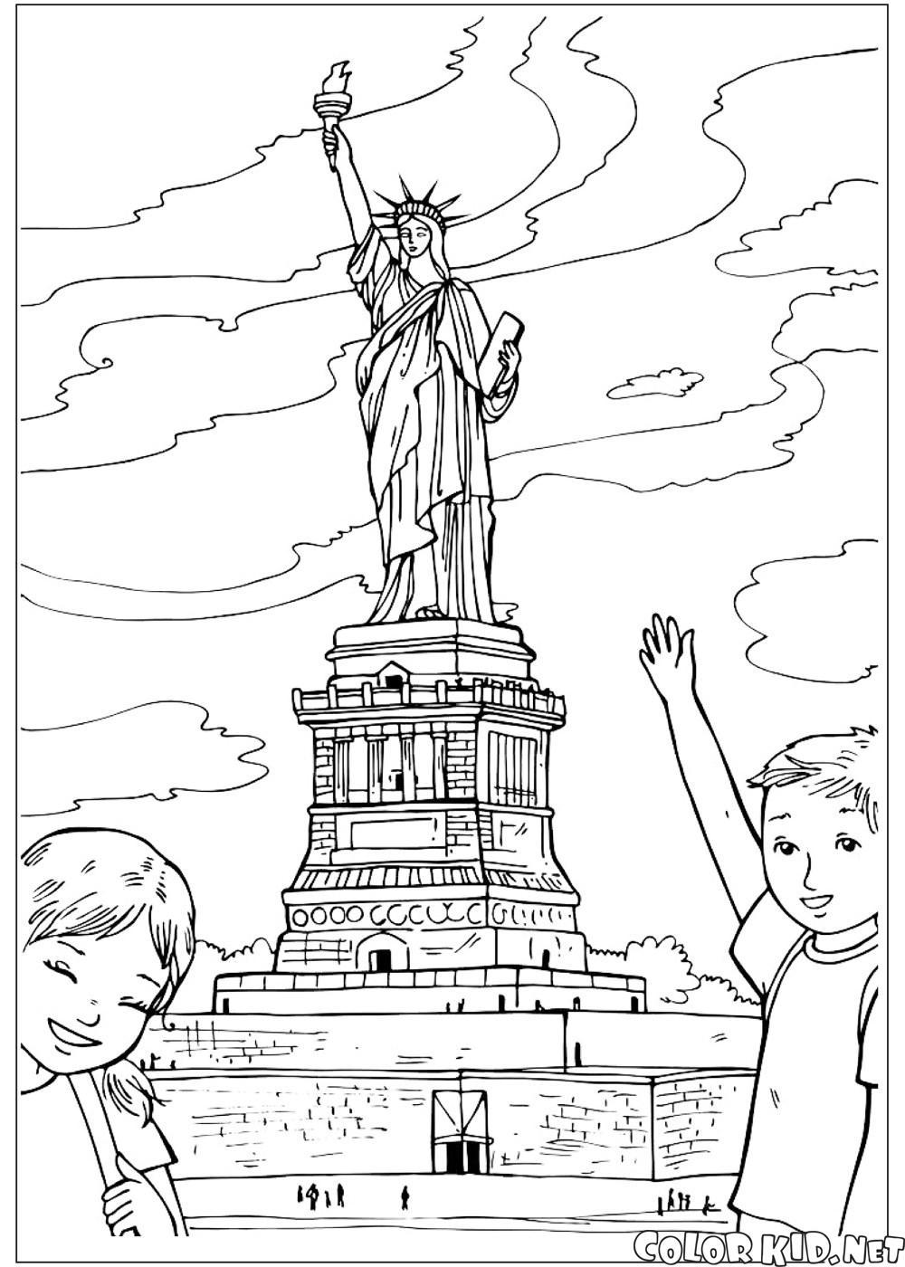 Malvorlagen - Die Vereinigten Staaten von Amerika